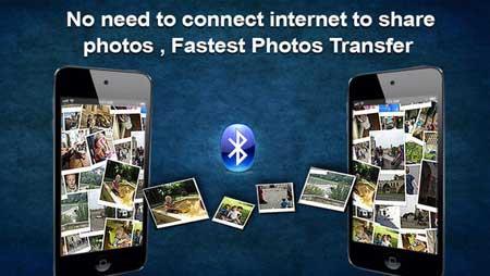 تطبيق Bluetooth Camera Share لإرسال الصور بالبلوتوث