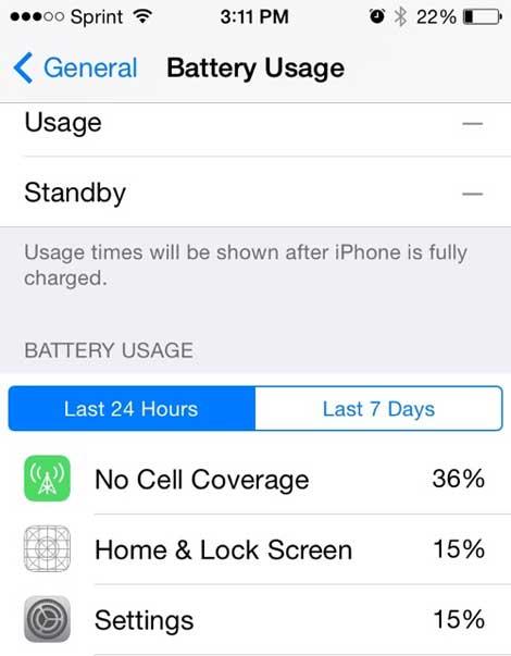ميزة معرفة استهلاك بطارية Iphone
