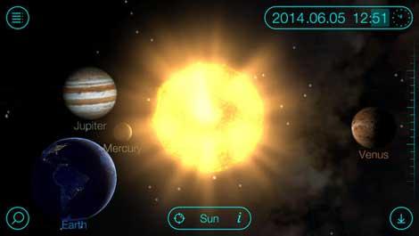 تطبيق Solar Walk لاكتشاف المجموعة الشمسية