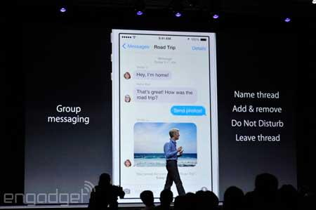 ميزات جديدة لتطبيق iMessage في iOS 8