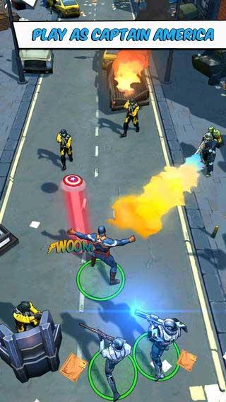 لعبة Captain America للأيفون والآيباد
