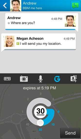 تطبيق BBM للأيفون