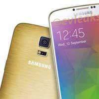 صورة صورة جديدة مسربة لهاتف سامسونج Galaxy F الذهبي