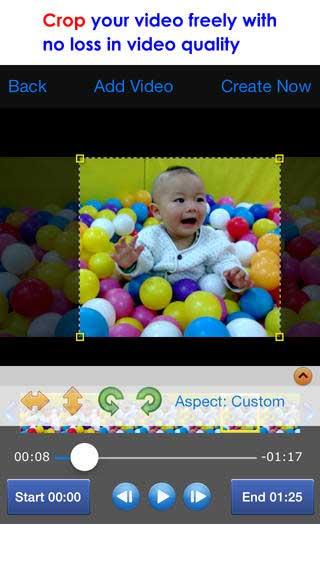 تطبيق Crop Video لقص مقاطع فيديو