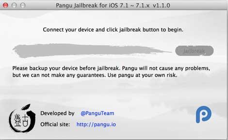 الإصدار 1.1.0 لبرنامج الجيلبريك pangu