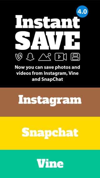 تطبيق InstantSave لتحميل الفيديو والصور من انستغرام وفين وسناب شات