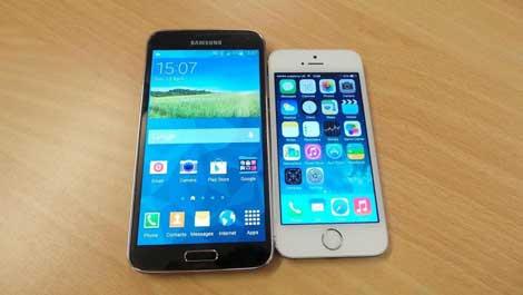 هل فعلا مستخدمو الأيفون يتحولون إلى شراء هاتف سامسونج جالاكسي S5 ؟