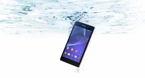 هاتف سوني Xperia Z2 من أقوى الهواتف مقاومة للماء