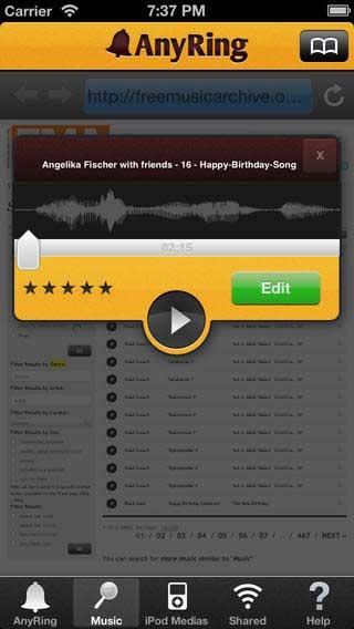 تطبيق AnyRing لتحميل وإنشاء نغمات الأيفون