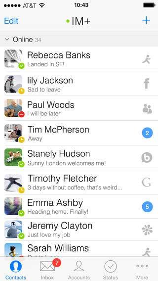 تطبيق IM+ للدردشة