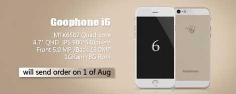 هاتف GooPhone i6 : نسخة أخرى مقلدة من الآيفون 6 بنظام الأندرويد !