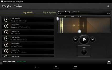 تطبيق Ringtone maker deluxe لإنشاء نغمات رنين