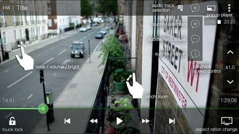 تطبيق DicePlayer للأندرويد
