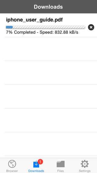 تطبيق Downloads for iOS