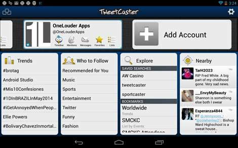 تطبيق TweetCaster for Twitter للأندرويد