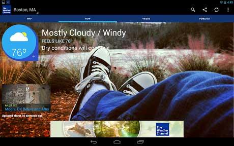 تطبيق The Weather Channel للطقس للأندرويد