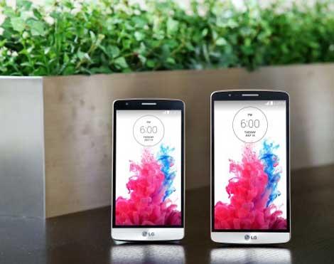 هاتف LG G3 بجانب LG G3 Beat