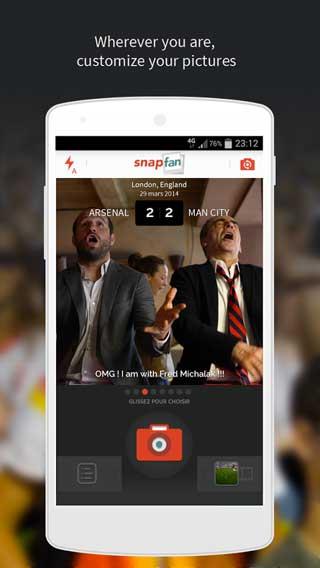 تطبيق Snapfan pics for sports fan للأندرويد
