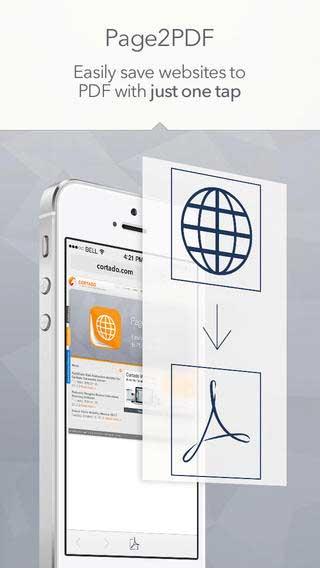 تطبيق Page2PDF لتحويل صفحات المواقع إلى PDF