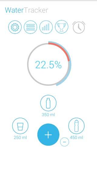 تطبيق water tracker لمعرفة معدل شربك للماء يوميا