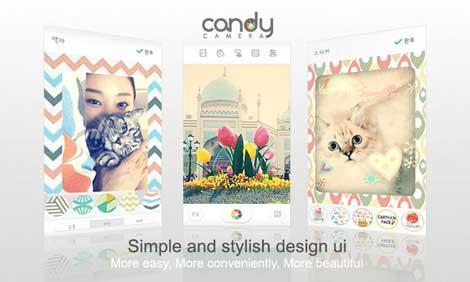 تطبيق Candy Camera برنامج كاميرا احترافي للأندرويد