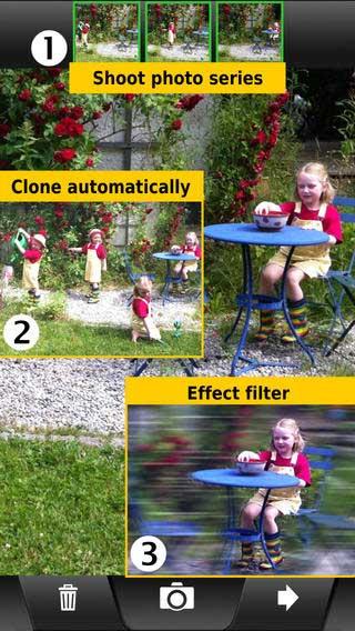 تطبيق ClonErase Camera لتكرار او حذف أي جزء من الصورة