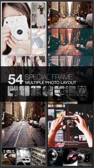 تطبيق withFrame لدمج الصور مع مزايا رائعة