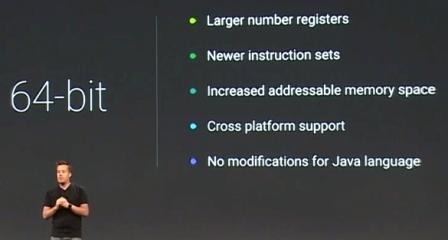 Android L : دعم المعالجات ذات معمارية 64 بت