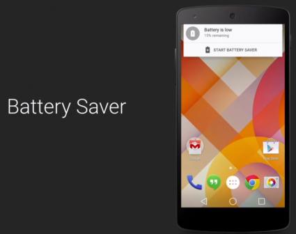 Android L : استهلاك أقل للطاقة ، عمر أطول للبطارية