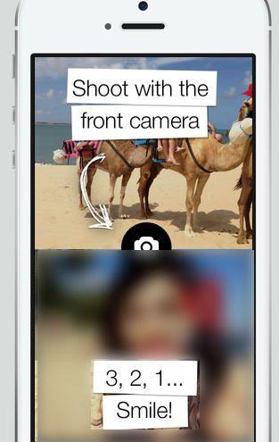 تطبيق Frontback - التصوير بالكاميرا الأمامية و الخلفية في وقت واحد