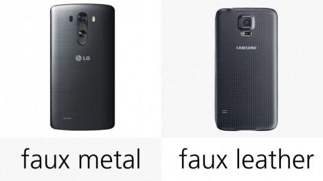 هاتف LG G3 ضد Galaxy S5 : التصميم