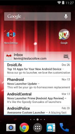 تطبيق Nova Launcher يوفر لك بعض مزايا نظام Android L الجديد