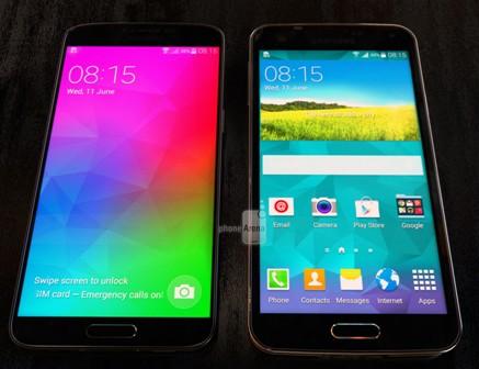 هاتف Samsung Galaxy F جنباً إلى جنب مع Galaxy S5