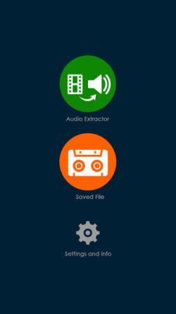 تطبيق The Audio Extractor - لاستخراج الأصوات من مقاطع الفيديو