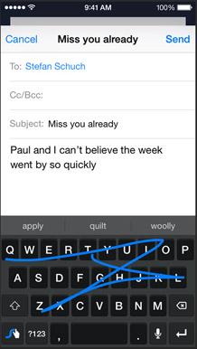 نظام iOS 8 : لوحات مفاتيح جديدة