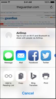 نظام iOS 8 : خيارات أكثر