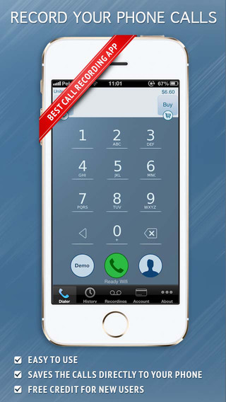 تطبيق Call Recorder - IntCall