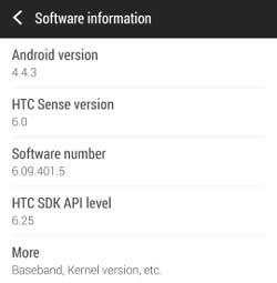 جهاز HTC ONE M7 يحصل على أندرويد كيت كات 4.4.3