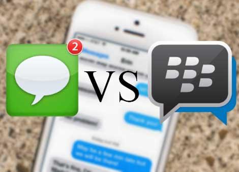 بلاكبيري : تطبيق BBM أفضل من تطبيق iMessage !