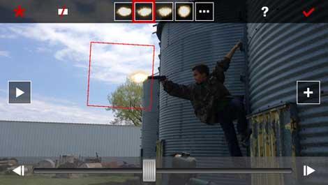 تطبيق Gun Movie FX للخدع السينيمائية