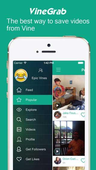 تطبيق VineGrab Pro لتحميل مقاطع فيديو Vine