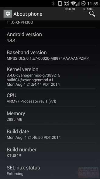 جهاز OnePlus One يحصل على تحديث كيت كات 4.4.4