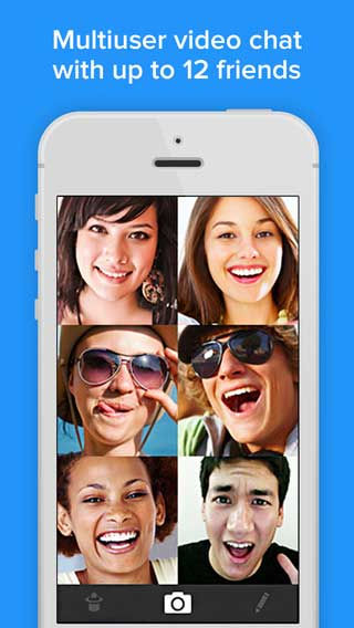 تطبيق Rounds Group Video Chat, Text and Audio Calls