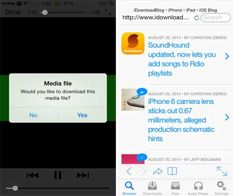 أداة Media Downloader لتحميل الملفات من الأيفون