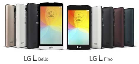 LG تعمل على جهازين L Fino و L Bello للسوق النامية
