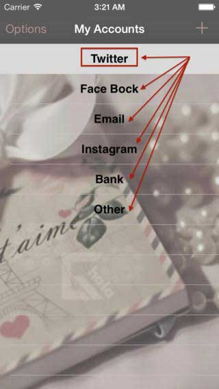 تطبيق My-Accounts حفظ معلومات حساباتك