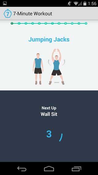 تطبيق Scientific 7-Minute Workout للأندرويد