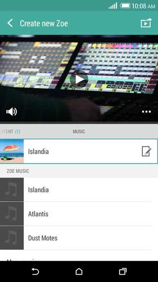 تطبيق Zoe من تطوير HTC لتحرير مقاطع الفيديو
