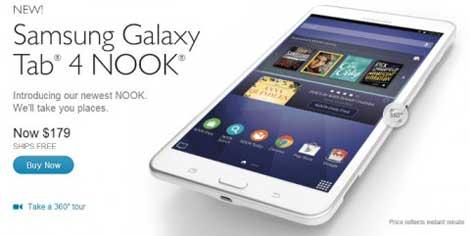 الإعلان رسمياً عن الجهاز اللوحي Galaxy Tab 4 Nook
