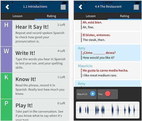 تطبيق Rocket Languages طرق تفاعلية لتعلم اللغة - مجانا